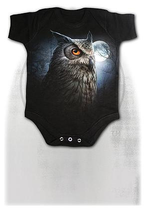 NIGHT WISE - Baby Sleepsuit Black