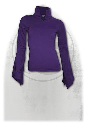 GOTHIC ELEGANCE - High Neck Goth Top Purple
