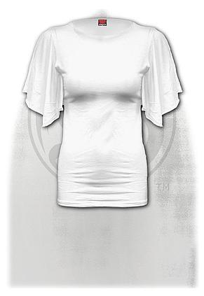GOTHIC ELEGANCE - Latin Boat Neck Top White